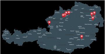 Alle BURGERISTA Standorte in Österreich
