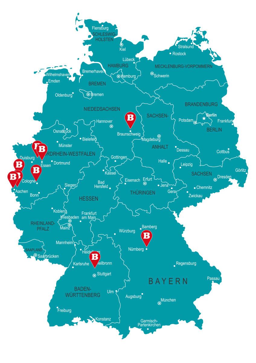 BURGERISTA Deutschland Standorte